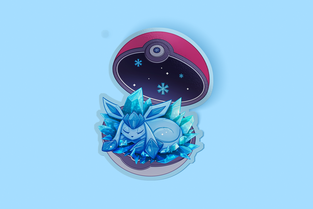 Glaceon Eevee Sticker