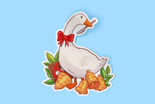Load image into Gallery viewer, Untiled Game Goose Sticker