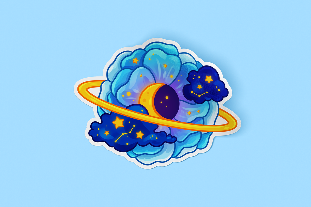 Luna Flower Sticker
