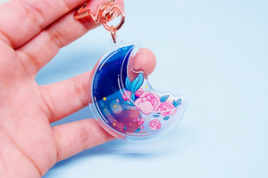 (Pre-Order) Moon Roses Charm