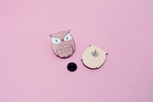 Load image into Gallery viewer, Owls Wooden Pins