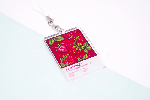 Strawberry Season Pantone Charm