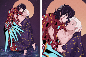 "Sheith Promise ""The Kiss"" Print"