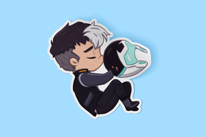 Shiro Sleeping Sticker