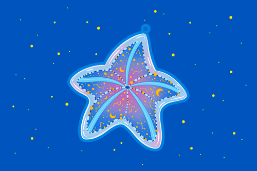 Starfish Constellation Charm