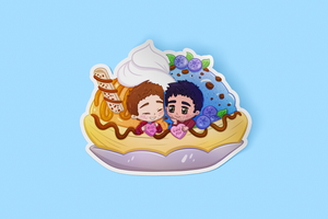 Sterek Banana Split Sticker
