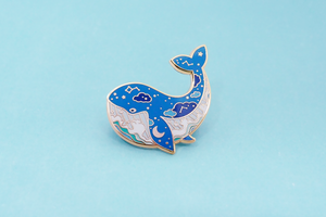 Space Whale Pin SECONDS