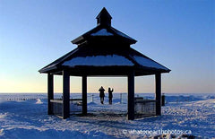 February at Grand Bend beach, Ontario