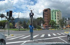 stoplight jugglers, Quito, Ecuador