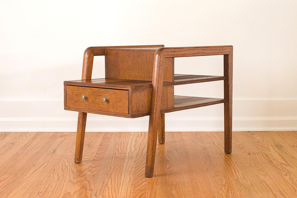Captivating MCM Step Side Table
