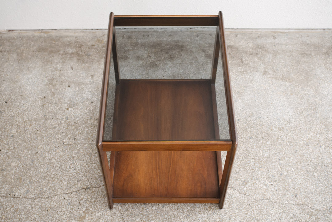MC Smoked Glass Side Table