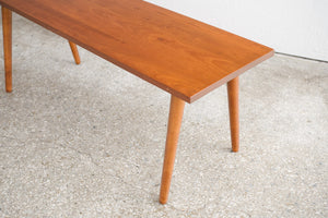 Mid Century Solid Wood Bench