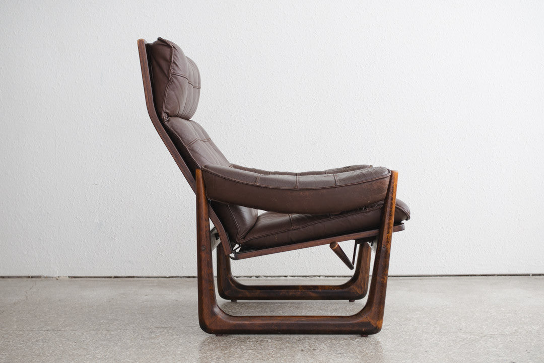 Mid Century Leather Chairs