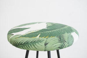 Mid Century Palm Leaf Stool
