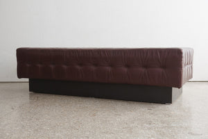 Mod Leather Chaise Bench