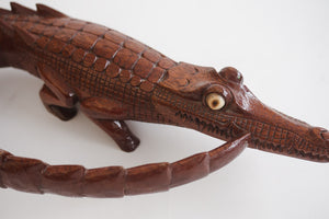 Carved Crocodile Figure