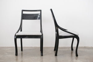 MC Black Lacquer Chairs