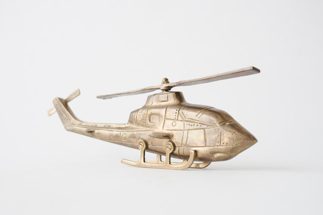 Solid Brass Helicopter