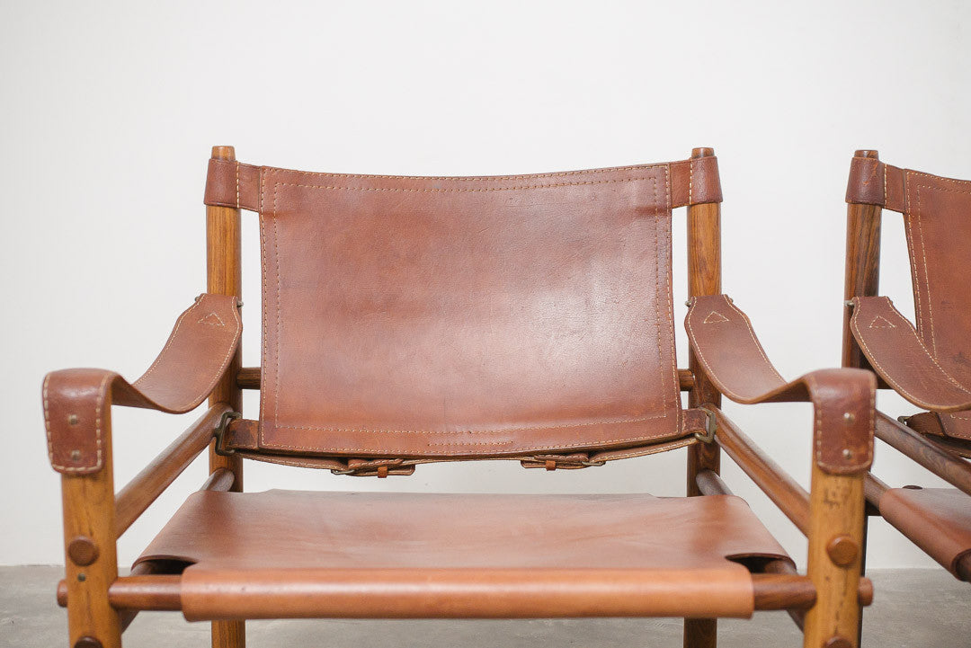 MC Leather Sling Chairs