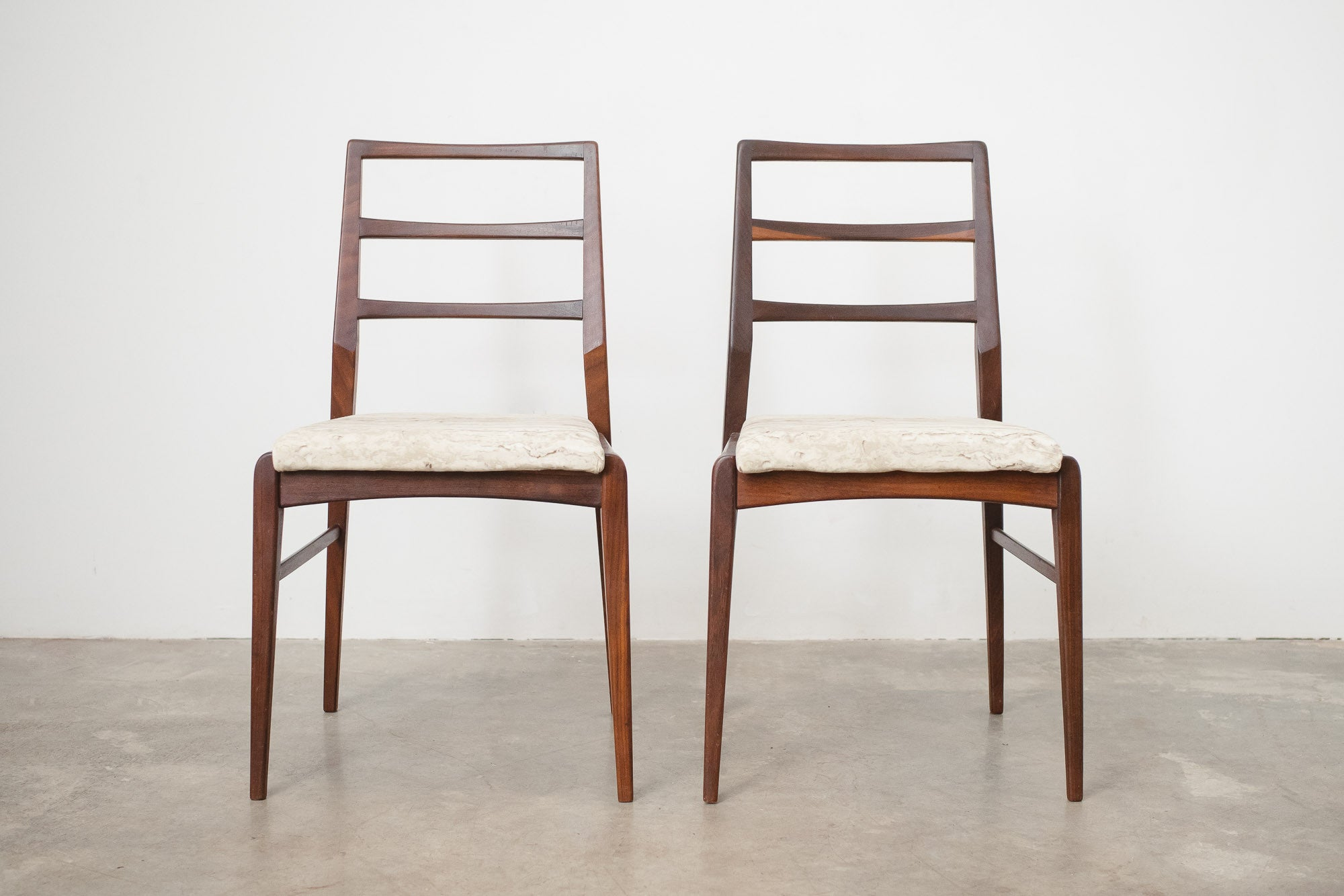 Pair Mid Century Teak Chairs