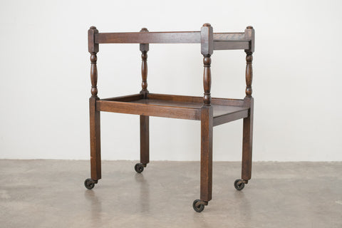 Dark Oak Bar Cart