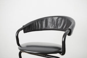 90s Mod Leather Chair