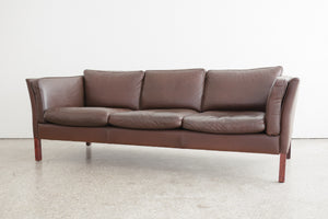 Danish Leather Stouby Sofa