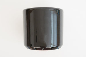 "6"" Pot / Planter - Gloss Black Cylinder"
