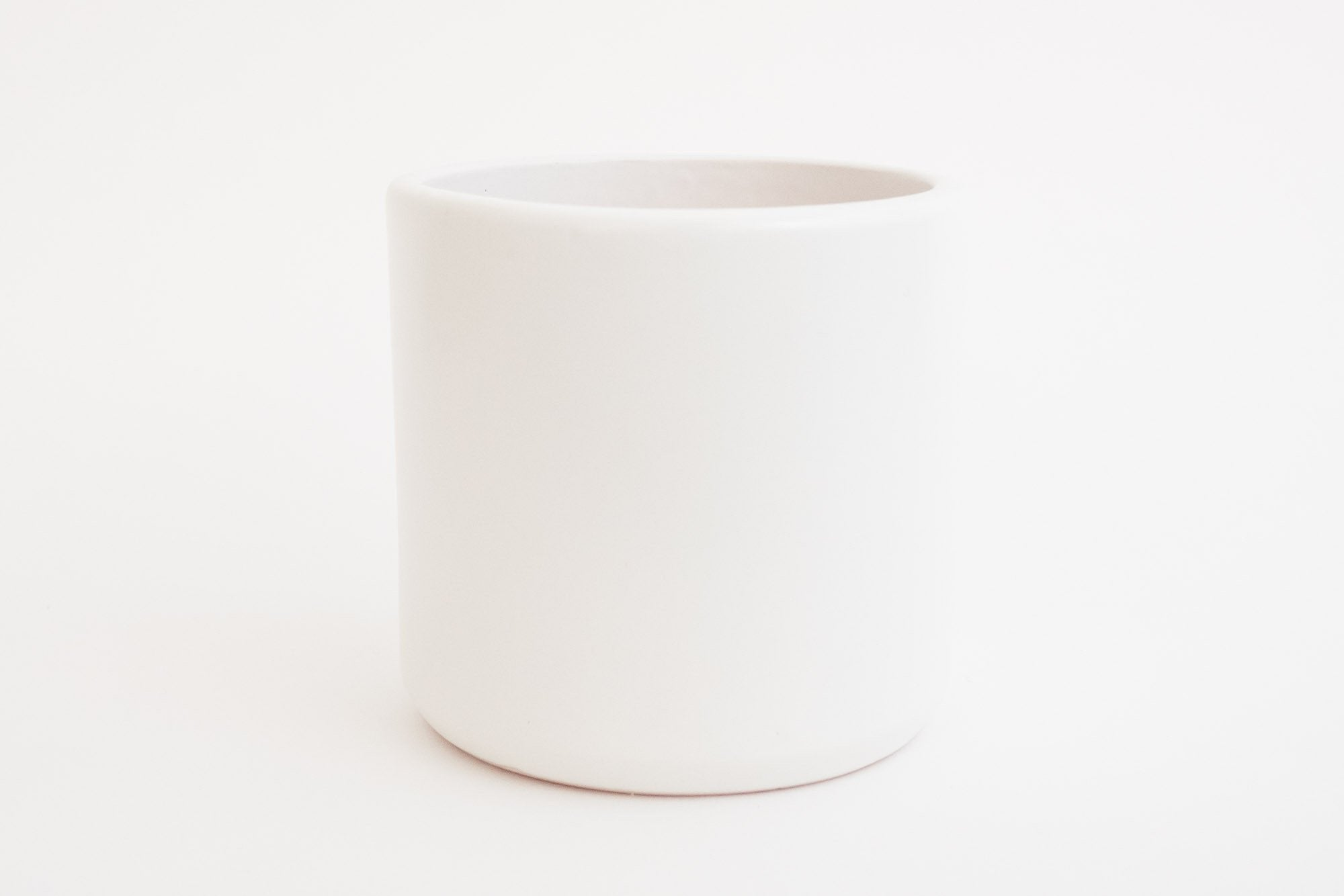 6 Quot Pot Planter Matte White Cylinder Homestead Seattle