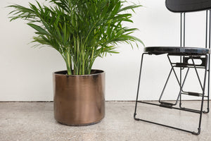 "12"" Pot / Planter - Bronze Cylinder"