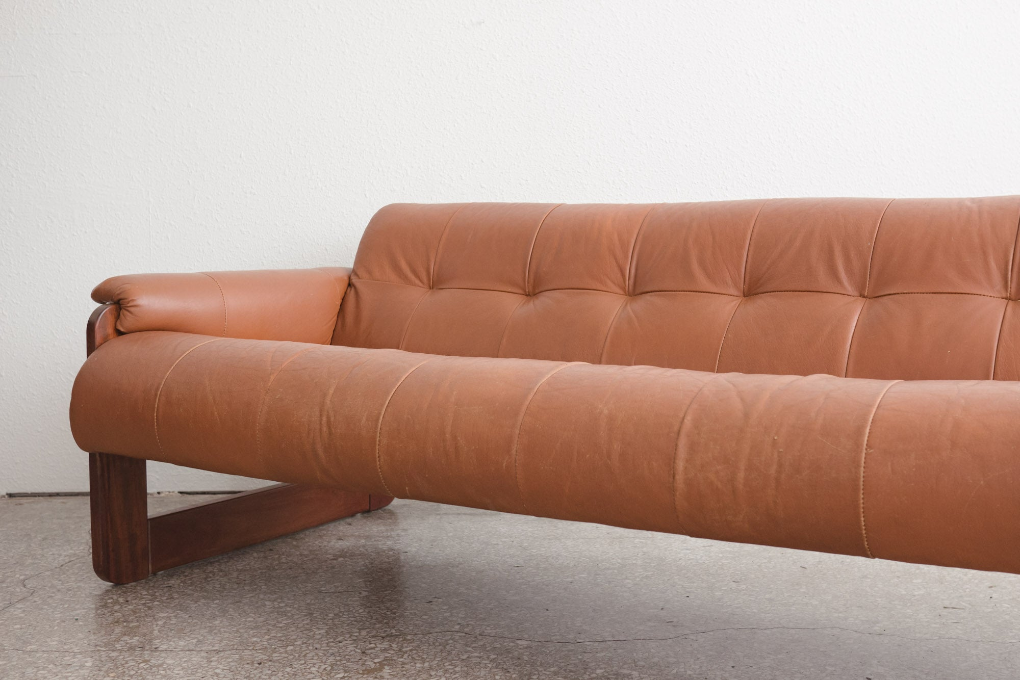 Great Mid Century Leather Sofa