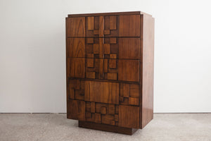 Lane Mosaic Highboy Dresser