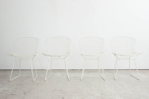 4 Bertoia Dining Chairs