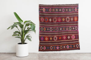 4.5x5 Turkish Kilim Rug | AYTEN