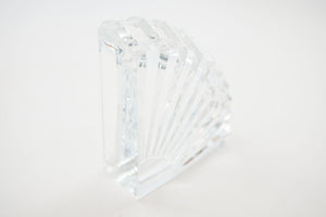 Crystal Fan Bookends