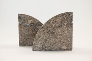 Carved Stone Bookends