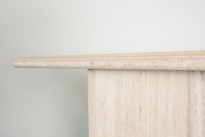 Travertine Console Table