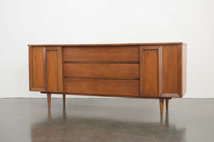 Mid Century 9 Drawer Walnut Dresser