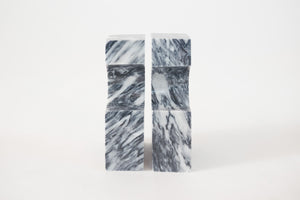 Sculptural Marble Bookends
