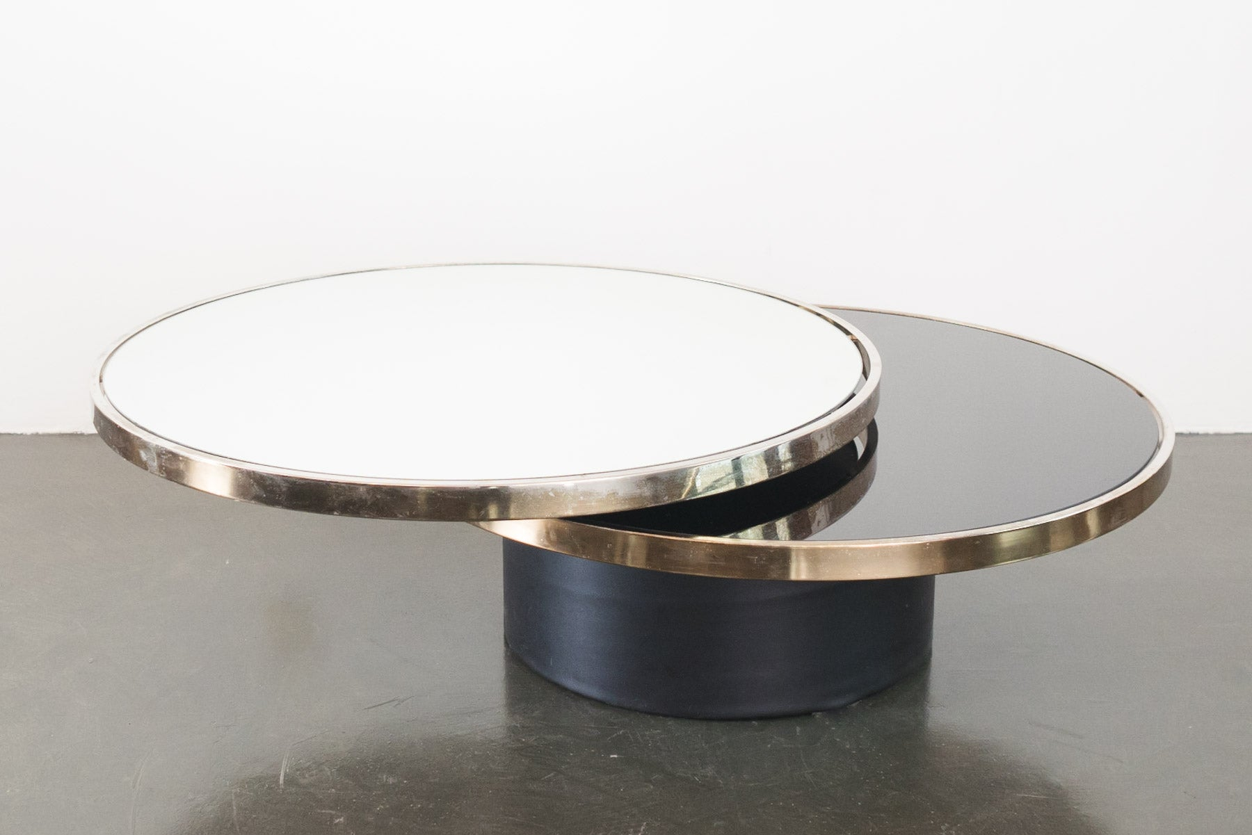 Glass Swivel Coffee Table.Design Institute Of America Coffee Table