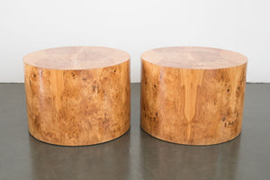 Burlwood Side Tables