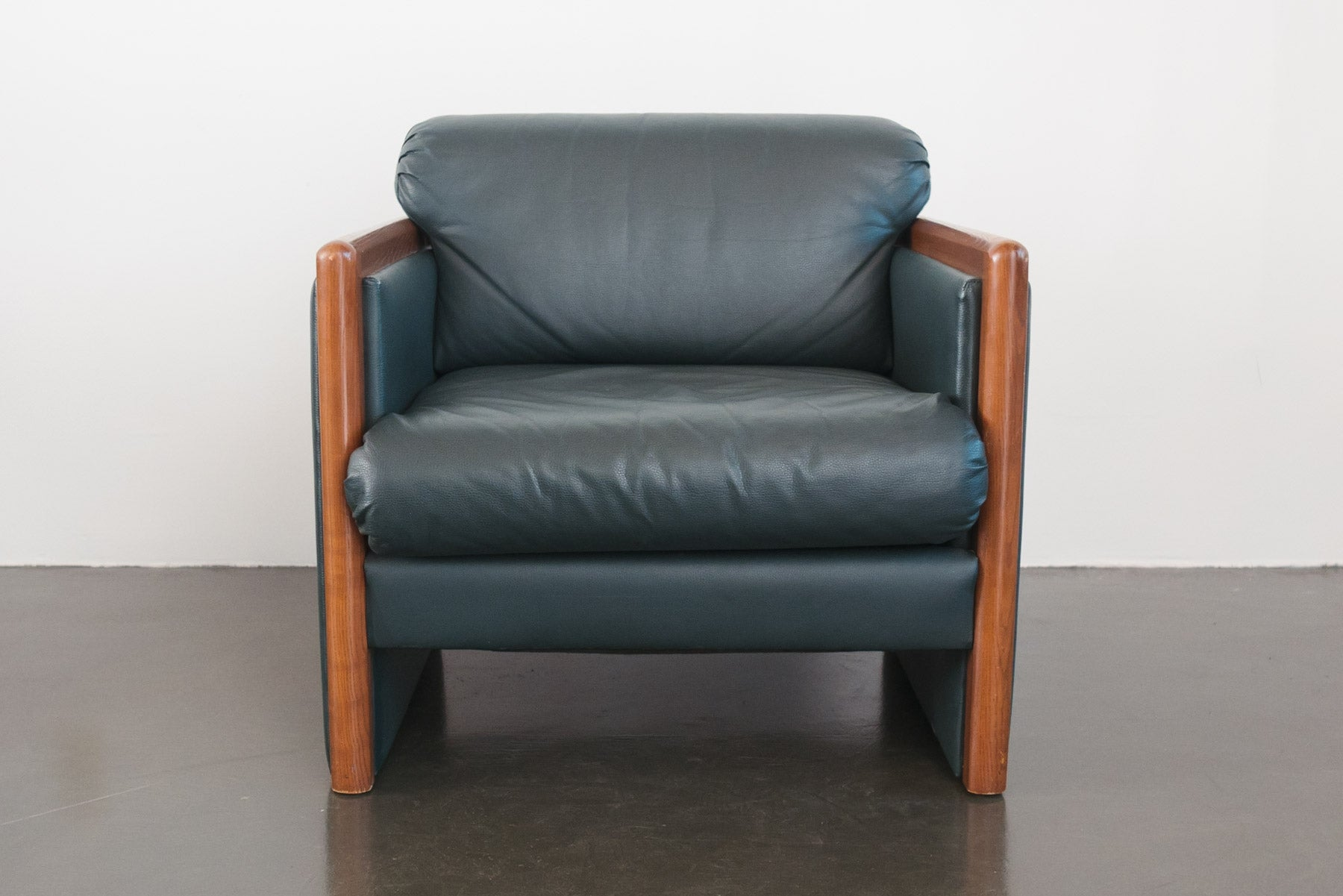 Green Leather Club Chair