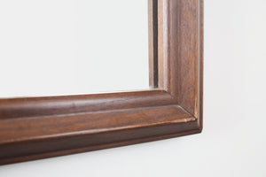 Mid Century Dark Wood Mirror