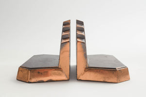 Bronze Deco Bookends