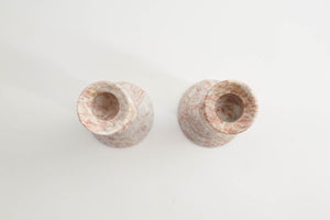 Pair Marble Candle Holders