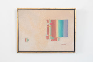 Framed Abstract Rainbow Painting