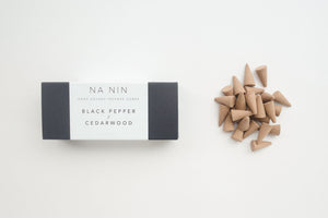 NA NIN Pairings Incense | Black Pepper + Cedarwood
