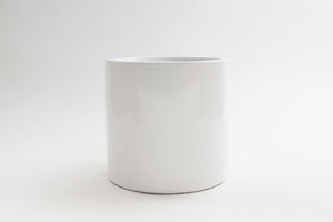 "6"" Pot / Planter - Gloss White Fiberglass Cylinder"