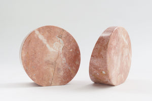 Pink Onyx Bookends