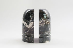 Black Marble Bookends